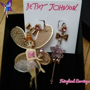 ✨Betsey Johnson Mismatch Fairyland Earrings NWT